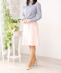 お見合い写真 シャツ&スカート